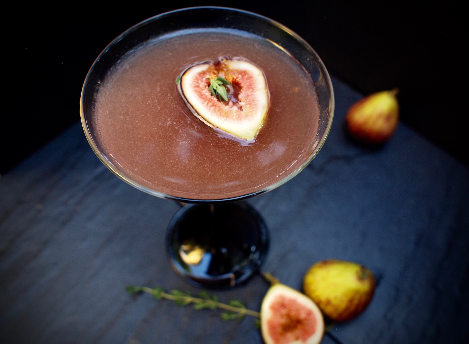 Fig Newtini Cocktail Sipper
