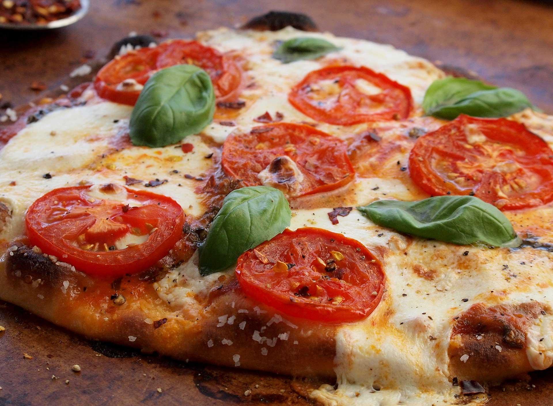 Melty Mozzarella and Tomato Flatbread