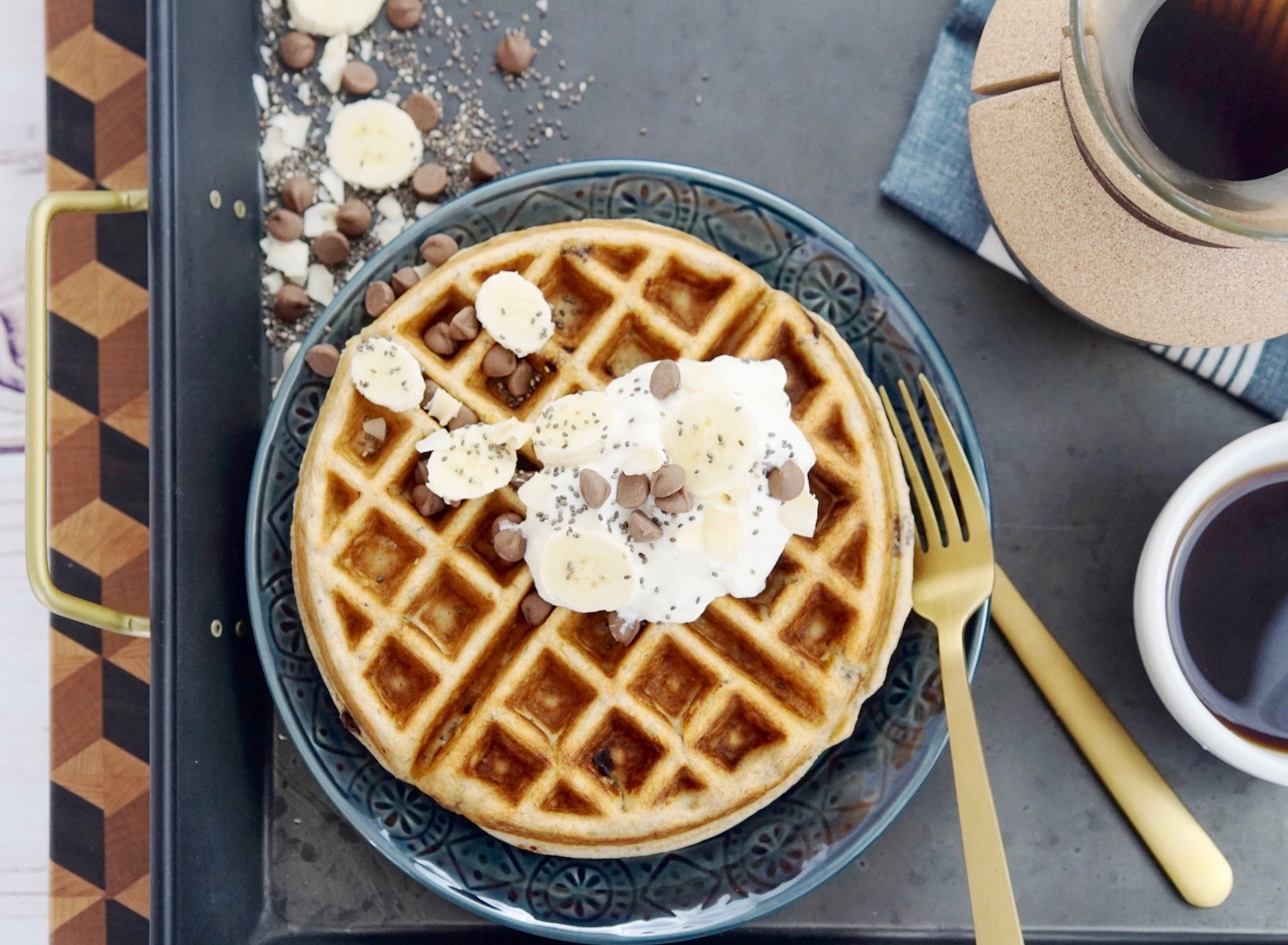 Breakfast Power Waffles