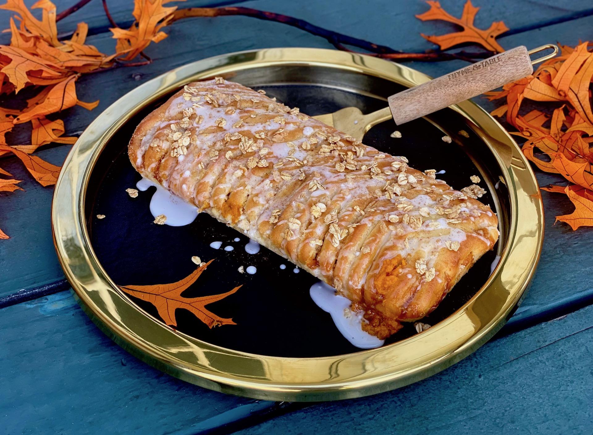 Pumpkin Brioche Braided Breakfast (Danish) Bread